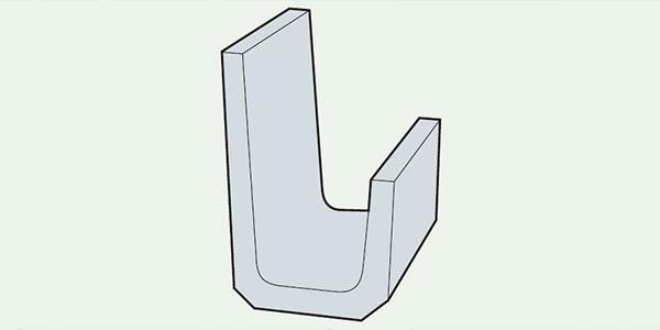 片土止め用鉄筋コンクリートU型